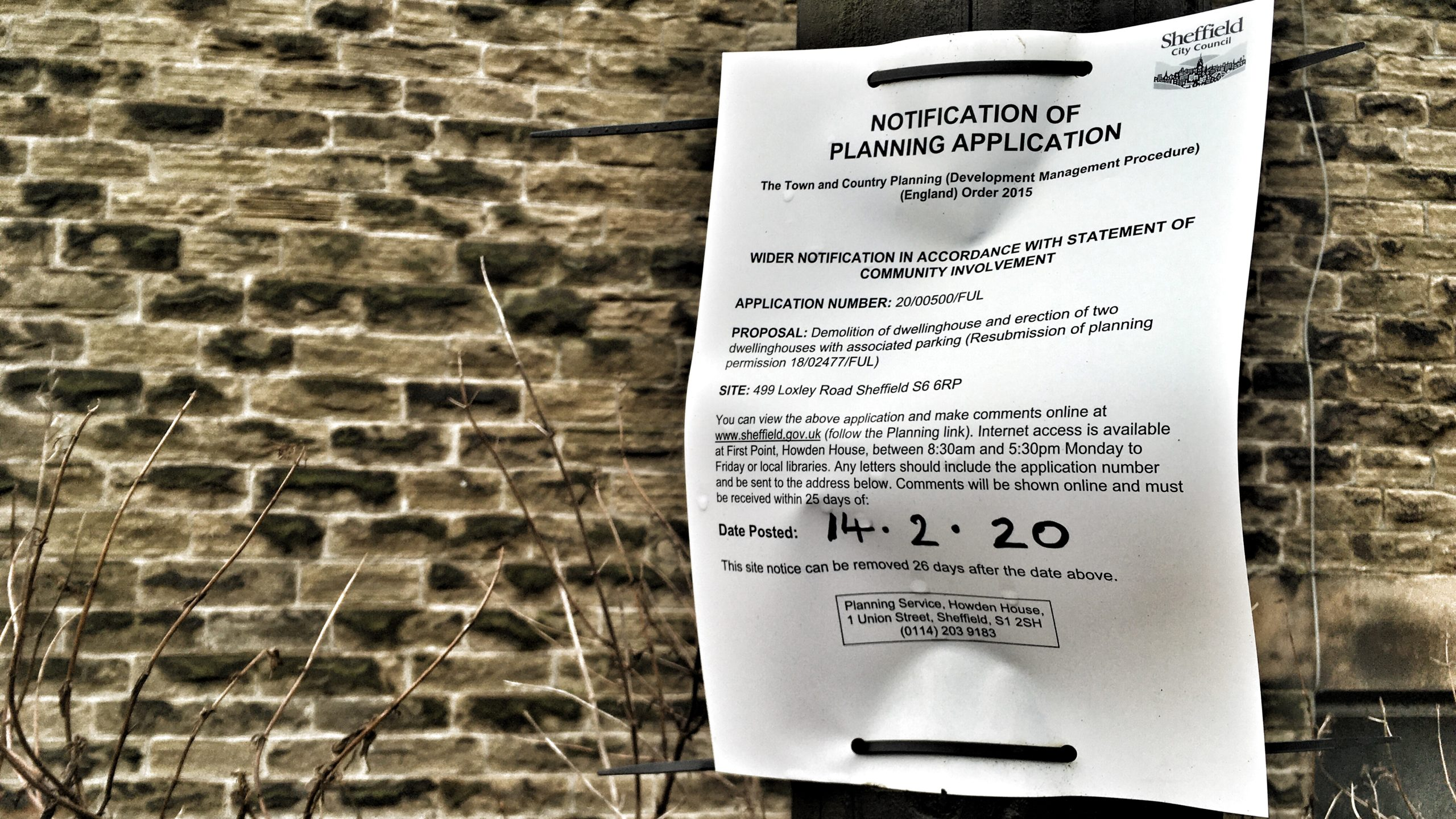 Ash Cottage on Loxley Road faces renewed demolition application