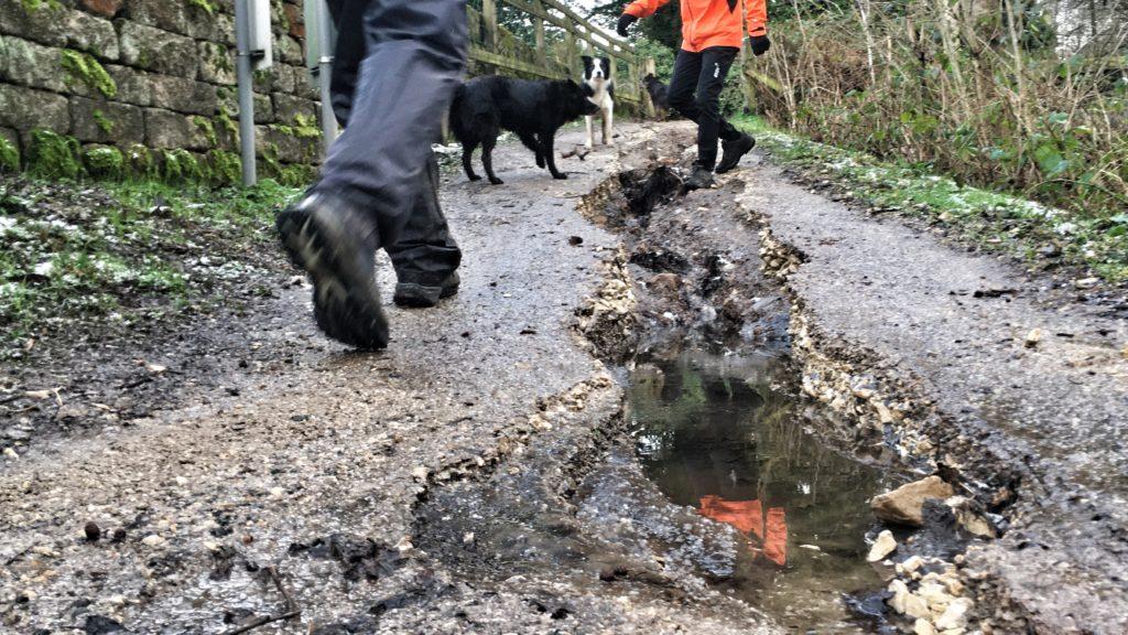 Flood damage to footpath at Damflask