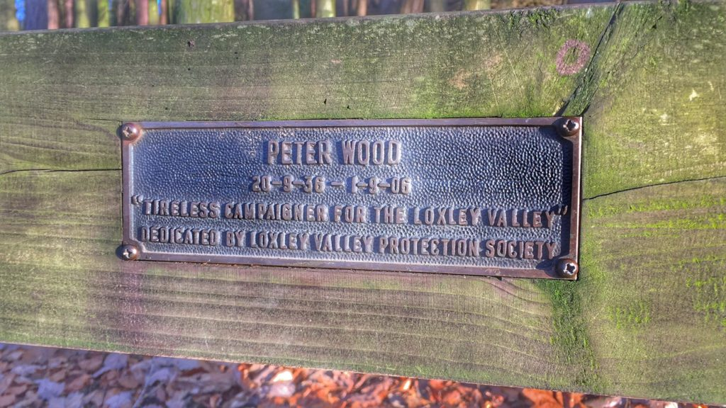 Peter Wood memorial plaque