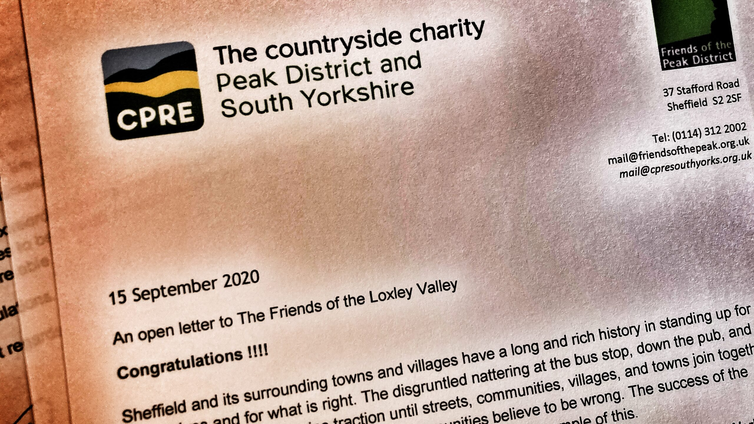 Countryside charity welcomes Loxley valley campaign success