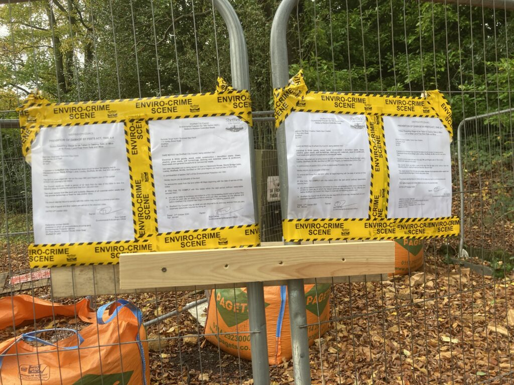 The notices that have been served on the Claremont House owners in the Loxley valley